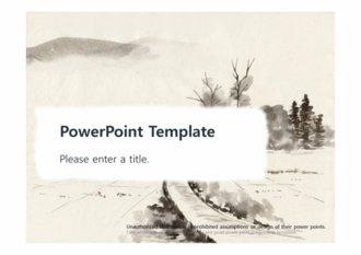 [한국미술 동양화 PPT배경] - 수묵화 한국화 동양화 한국미술 전통 배경파워포인트 PowerPoint PPT 프레젠테이션