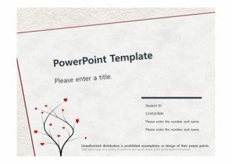 [나무하트배경 테마 PPT배경] - 나무하트 사랑 심플한 예쁜 깔끔한 배경파워포인트 PowerPoint PPT 프레젠테이션