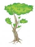 나무 한그루 백터 일러스트 AI