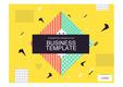 PPT 비즈니스 템플릿 양식(노란색 계열 기하학 무늬)(Business Templates)
