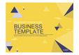 PPT 비즈니스 템플릿 양식(노란색과 남색의 기하학 배경)(Business Templates)