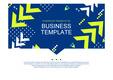 PPT 비즈니스 템플릿 양식(남색 기하학배경)(Business Templates)