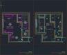 디자인호텔 도면- #1 객실 유닛 - 평면도, 천정도