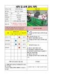 기기 세척 및 관리 점검표
