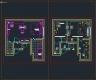 디자인호텔 도면- #3 객실 유닛 - 평면도, 천정도