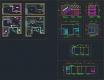 디자인호텔 객실 복층형 타입1 - 단위 평면,천정, 입면 풀 도면