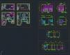 디자인호텔 객실 복층형 타입2 - 단위 평면, 천정도, 입면도 풀세트
