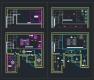 디자인호텔 객실 복층형 타입2 - 단위 평면, 천정도