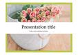 꽃PPT 꽃배경 꽃 깔끔한 심플한 예쁜 식물PPT템플릿