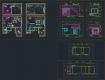 디자인호텔 객실 복층형 타입3 – 단위 평면, 천정, 입면 풀도면