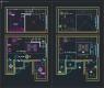 디자인호텔 객실 복층형 타입3 – 단위 평면, 천정
