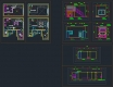 디자인호텔 객실 복층형 타입4 – 단위 평면, 천정, 입면 풀도면