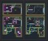 디자인호텔 객실 복층형 타입4 – 단위 평면, 천정