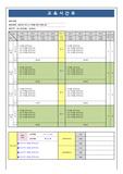 주간교욱일정표-주간교육훈련일정표, 교육시간표[표준양식, 엑셀양식]