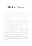 lac operon 영문 에세이