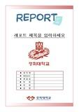 경희대 레포트 표지[2017 깔끔하고심플한 A+경희대학교 레포트 표지]