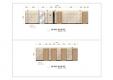 칼라링 작업(PSD파일) - B디자인호텔 6층 복도 입면도(베이지계통 1안, 2안)