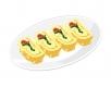 계란말이 음식 일러스트 AI (Rolled Omelet) (pangda)