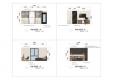 칼라링 작업(PSD파일) - H디자인호텔 객실 입면도-1005