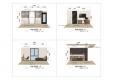 칼라링 작업(PSD파일) - H디자인호텔 객실 입면도-1007(3D 느낌)