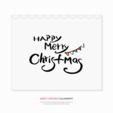행복한 크리스마스 캘리그라피02