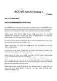 제대로 번역한 ACTIVE Skills for Reading 4 (3rd edition) Unit7-1. The Mediterranean Diet