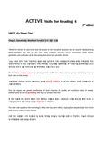 제대로 번역한 ACTIVE Skills for Reading 4 (3rd edition) Unit7-2. Genetically Modified Food