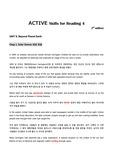 제대로 번역한 ACTIVE Skills for Reading 4 (3rd edition) Unit8-1. Solar Storms