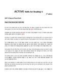 제대로 번역한 ACTIVE Skills for Reading 4 (3rd edition) Unit8-2. Star Struck