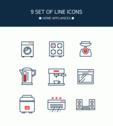 레드 포인트 라인 아이콘 09