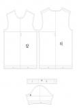 남성 라운드 티셔츠 패턴 도안 의상디자인 의류도안 패턴입니다. 실사이즈 100입니다.