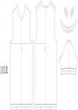 남성 브이넥티셔츠 패턴 105사이즈입니다. 실사이즈패턴입니다.