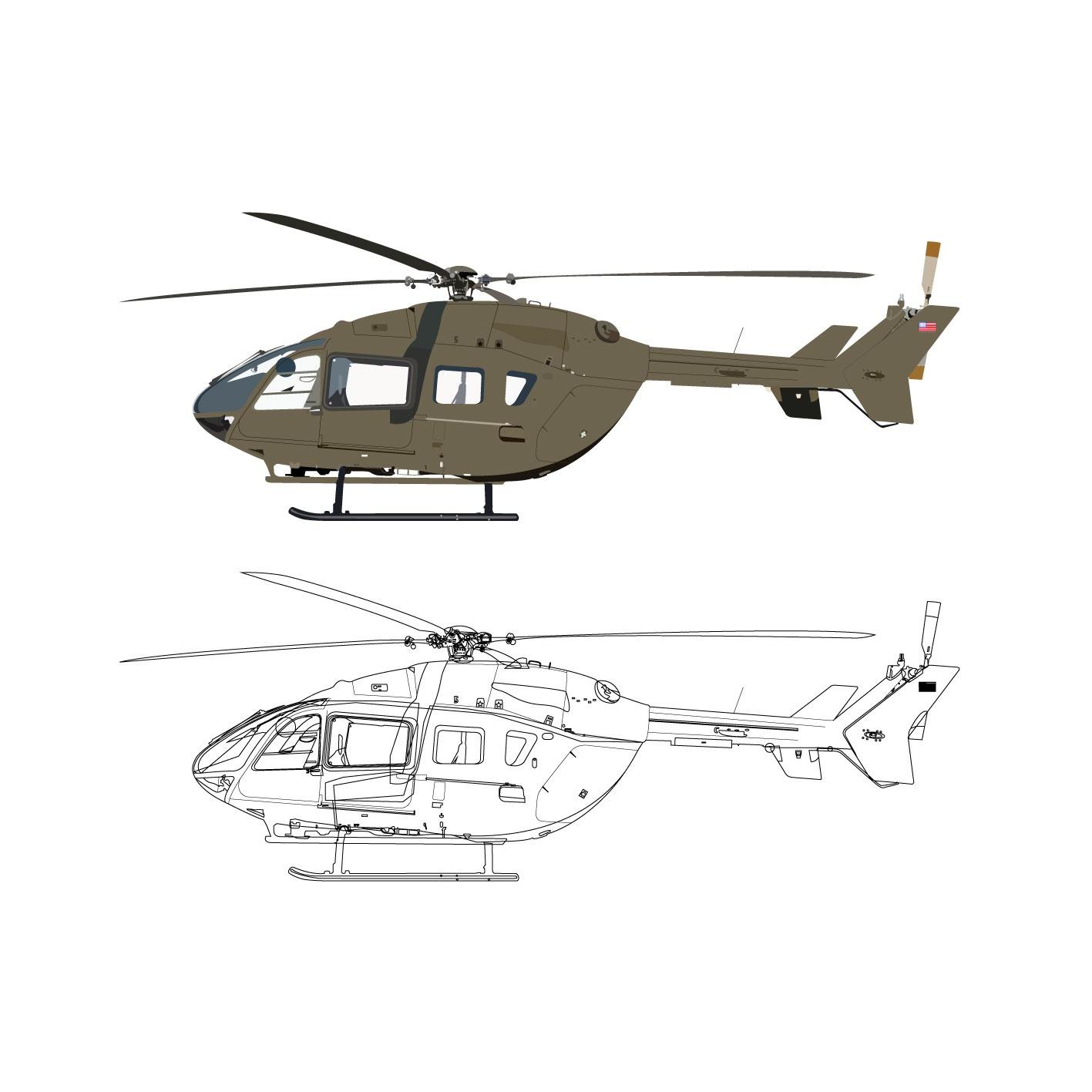 A+학점 헬리콥터 고퀄리티 일러스트 작업물