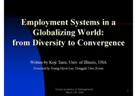 Employment Systems in a Globalizing World