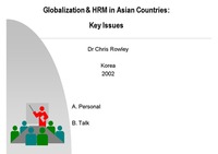 Asian HRM: Key Issues in Traditions and Transitions