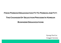 From Person-Organization Fit To Person-Job Fit?
