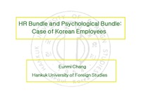 HR Bundle and Psychological Bundle: Case of Korean Employees