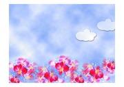 파워포인트 디자인 애니 꽃밭