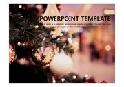 PPT 양식 크리스마스, 겨울 템플릿