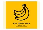 <strong>PPT 템플릿</strong>- 바나나
