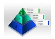 3단계 피라미드형 <strong>PPT</strong> <strong>다이어그램</strong>