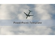 <strong>PowerPoint</strong> Template 비행기