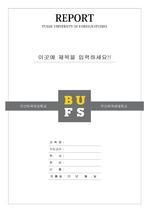 부산외국어대학교 레포트 표지 v3