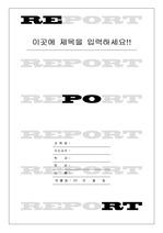 레포트 표지 & 보고서 표지 v2