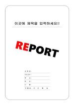 리포트 표지 & 보고서 표지 v3
