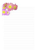 편지지, 노트, 레포트 속지, 연습장, 다이어리 v7