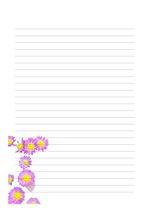 편지지, 노트, 레포트 속지, 연습장, 다이어리 v4