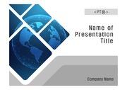 PPT양식 템플릿 배경 흑백사진형17 - 디지털, 사이버, 지구1