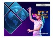 PPT양식 템플릿 배경 흑백사진형17 - VR, 가상현실11