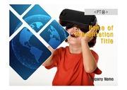 PPT양식 템플릿 배경 흑백사진형17 - VR, 가상현실10
